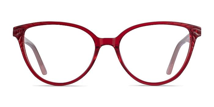 Wonder Clear Red Pink Acetate Eyeglass Frames from EyeBuyDirect