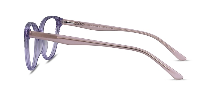 Wonder Clear Purple Pink Acetate Eyeglass Frames from EyeBuyDirect