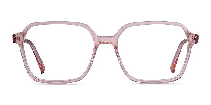 Bucolic Clear Pink Acétate Montures de lunettes de vue d'EyeBuyDirect