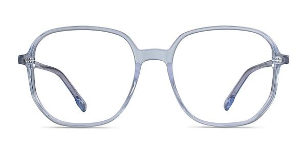 Natural Clear Blue Acetate Eyeglass Frames
