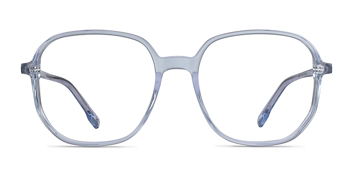 Natural Clear Blue Acetate Eyeglass Frames from EyeBuyDirect