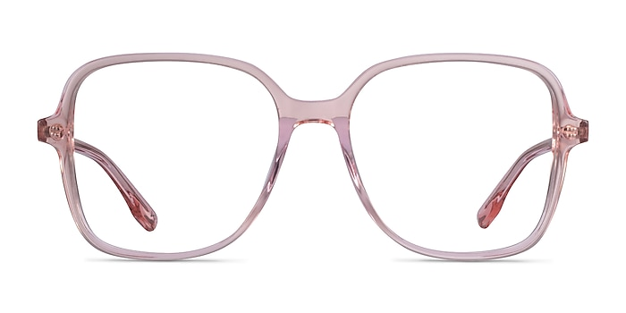 Bloom Clear Pink Acetate Eyeglass Frames from EyeBuyDirect