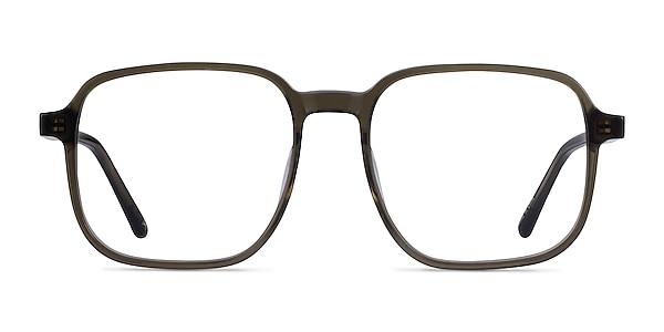 Ozone Clear Dark Green Acetate Eyeglass Frames