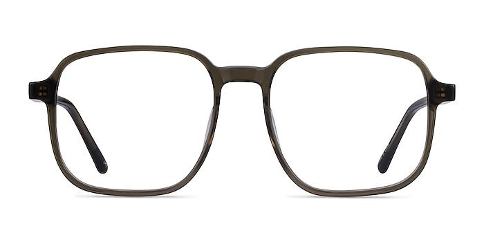 Ozone Clear Dark Green Acetate Eyeglass Frames from EyeBuyDirect
