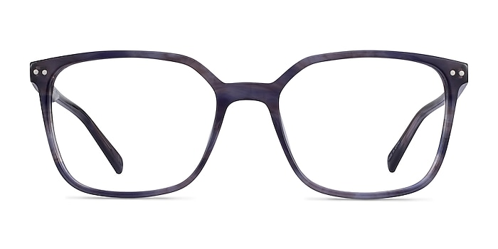 Conscious Blue Striped Acetate Eyeglass Frames from EyeBuyDirect