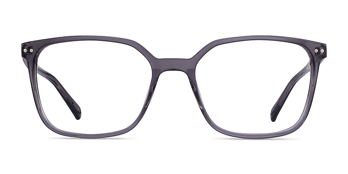Conscious Clear Gray Acetate Eyeglass Frames from EyeBuyDirect