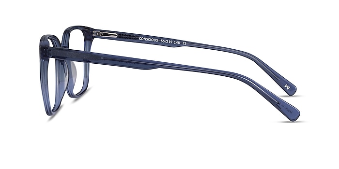 Conscious Clear Blue Acetate Eyeglass Frames from EyeBuyDirect