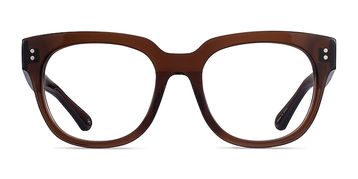 Life Clear Brown Acetate Eyeglass Frames from EyeBuyDirect
