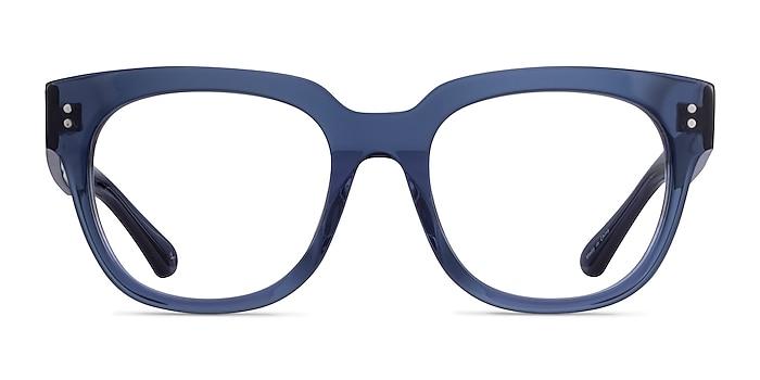 Life Clear Blue Acétate Montures de lunettes de vue d'EyeBuyDirect