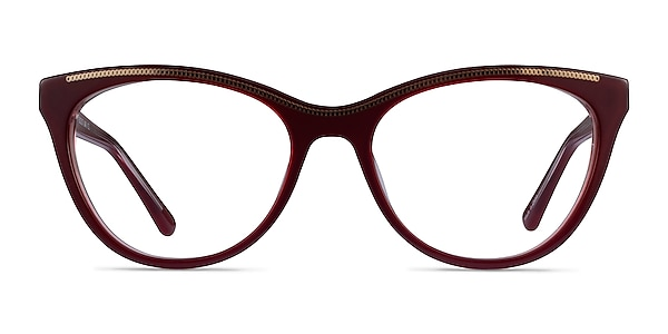Felicity Burgundy Gold Acetate Eyeglass Frames