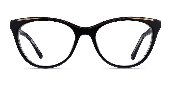 Felicity Black Gold Acetate Eyeglass Frames from EyeBuyDirect