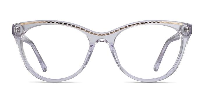 Felicity Clear Gold Acetate Eyeglass Frames from EyeBuyDirect