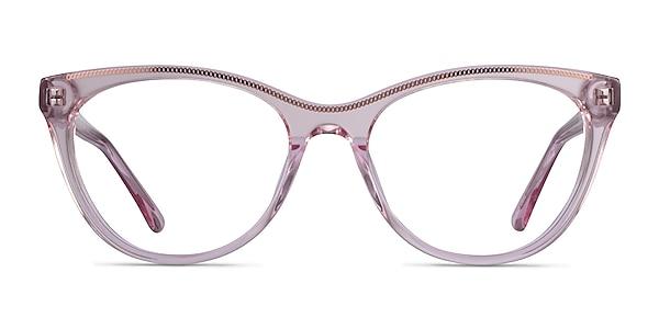 Felicity Clear Pink Rose Gold Acetate Eyeglass Frames