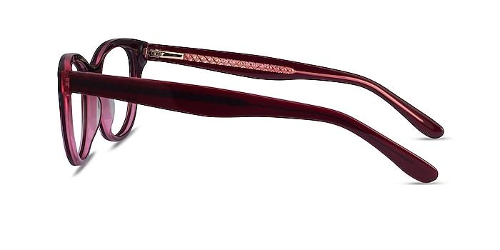 Arcady Burgundy Gold Acetate Eyeglass Frames from EyeBuyDirect
