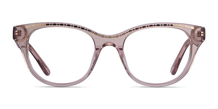 Arcady Clear Pink Gold Acétate Montures de lunettes de vue d'EyeBuyDirect