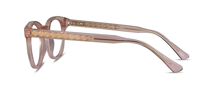 Hoop Clear Pink Gold Acétate Montures de lunettes de vue d'EyeBuyDirect