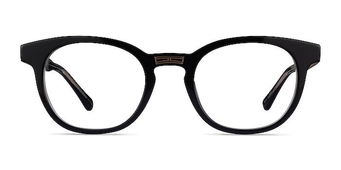 Hoop Black Gold Acetate Eyeglass Frames from EyeBuyDirect