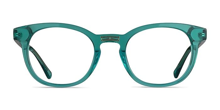 Hoop Emerald Green Gold Acétate Montures de lunettes de vue d'EyeBuyDirect