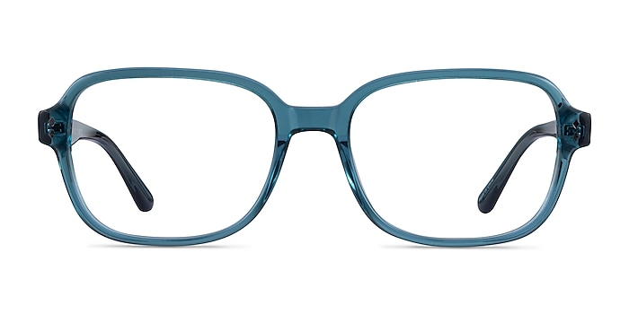 Patina Clear Blue Acetate Eyeglass Frames from EyeBuyDirect