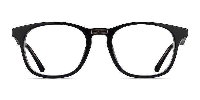 Casting Black Gold Acetate Eyeglass Frames from EyeBuyDirect