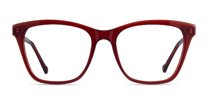 Luminescence Iridescent Red Acetate Eyeglass Frames from EyeBuyDirect