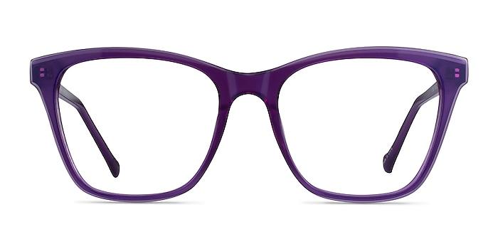 Luminescence Iridescent Purple Acetate Eyeglass Frames from EyeBuyDirect
