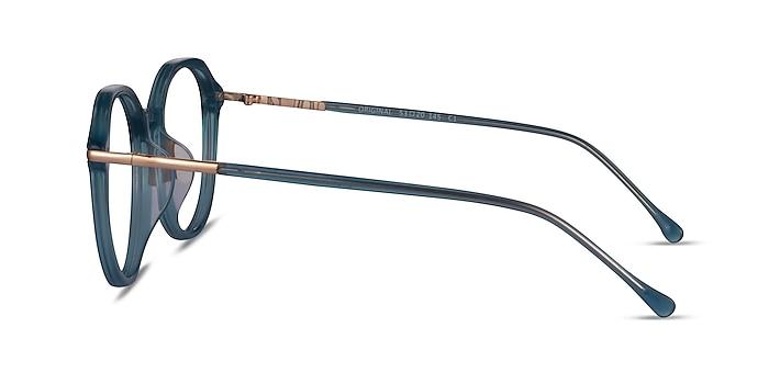 Original Iridescent Blue Acetate Eyeglass Frames from EyeBuyDirect