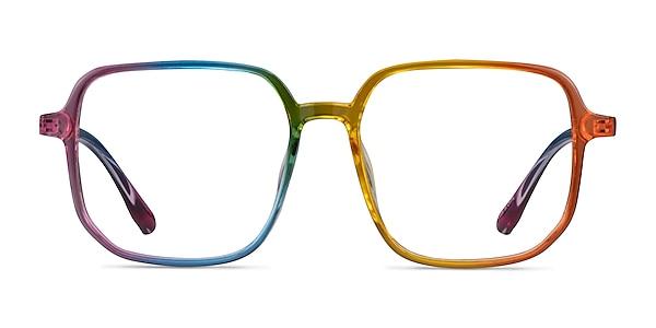 Bright Rainbow Plastic Eyeglass Frames