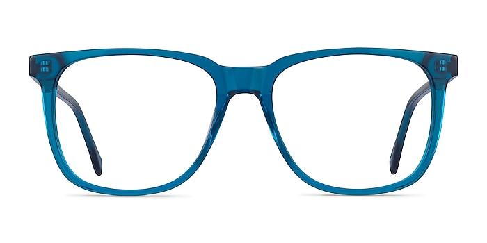 Latitude Clear Blue Acétate Montures de lunettes de vue d'EyeBuyDirect