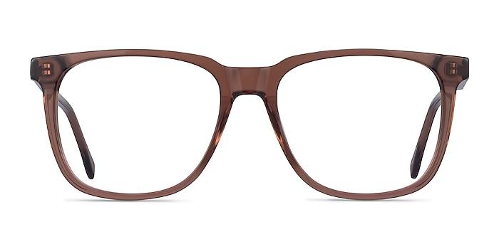 Latitude Clear Brown Acétate Montures de lunettes de vue d'EyeBuyDirect