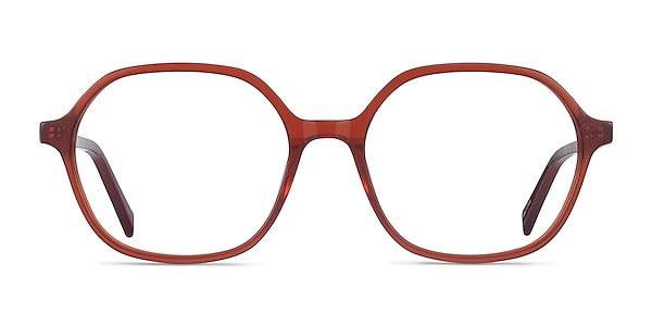 Pigment Terracotta Red Acetate Eyeglass Frames