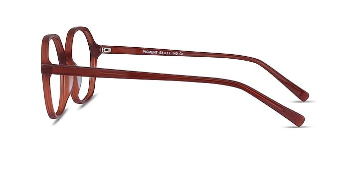 Pigment Terracotta Red Acétate Montures de lunettes de vue d'EyeBuyDirect