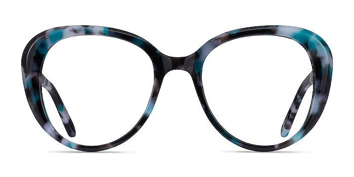 Peony Blue Tortoise Acetate Eyeglass Frames from EyeBuyDirect