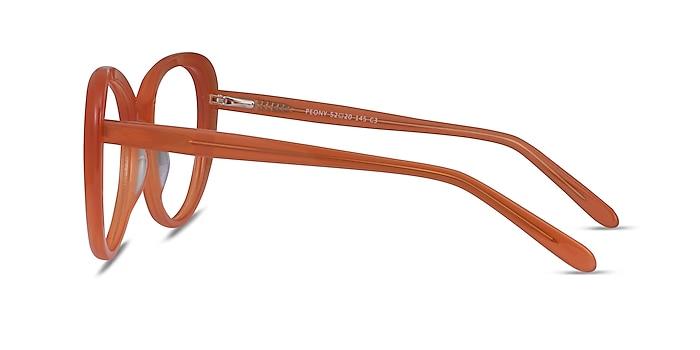 Peony Clear Orange Acétate Montures de lunettes de vue d'EyeBuyDirect