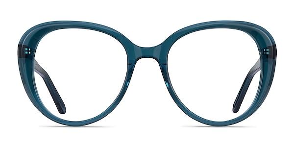 Peony Clear Teal Acétate Montures de lunettes de vue