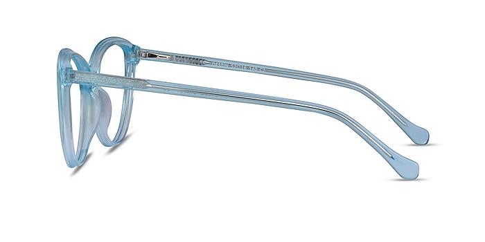 Destin Clear Blue Acetate Eyeglass Frames from EyeBuyDirect