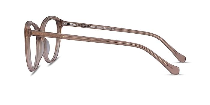 Destin Clear Brown Acetate Eyeglass Frames from EyeBuyDirect