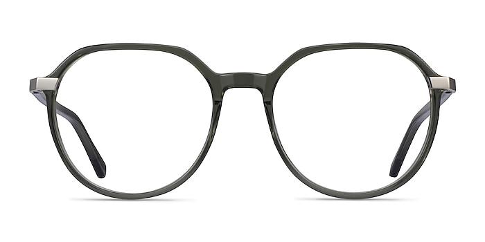 Niagara Clear Khaki Green Acetate Eyeglass Frames from EyeBuyDirect