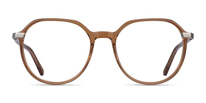 Niagara Clear Brown Acetate Eyeglass Frames from EyeBuyDirect