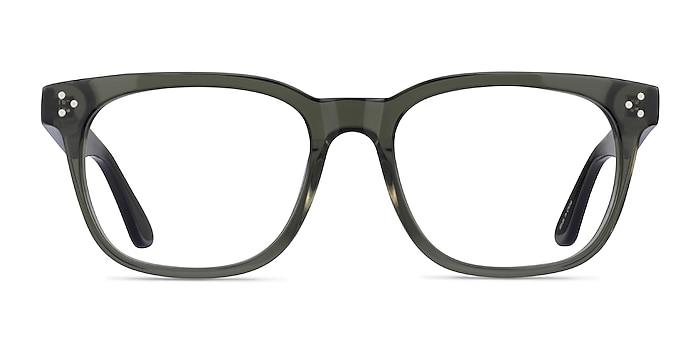 Adriatic Clear Khaki Green Acetate Eyeglass Frames from EyeBuyDirect