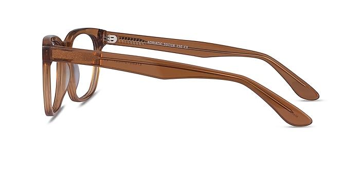 Adriatic Clear Brown Acetate Eyeglass Frames from EyeBuyDirect