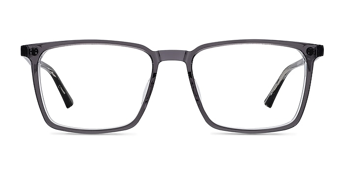Fjord Clear Gray Striped Acetate Eyeglass Frames from EyeBuyDirect