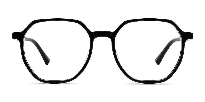 Tiki Black Acetate Eyeglass Frames from EyeBuyDirect