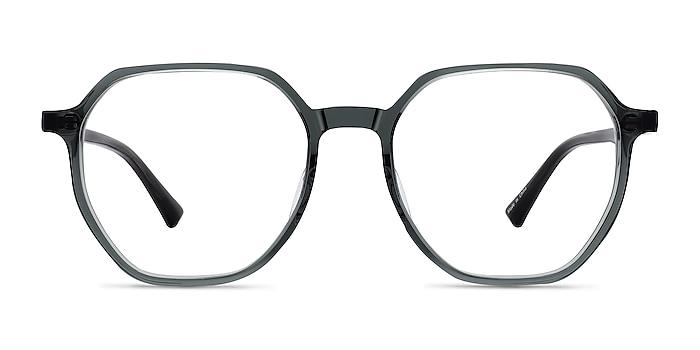 Tiki Clear Gray Acetate Eyeglass Frames from EyeBuyDirect