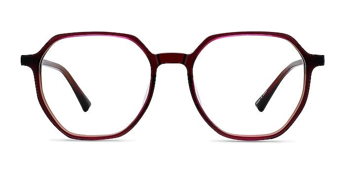 Tiki Brown   Pink Acetate Eyeglass Frames from EyeBuyDirect