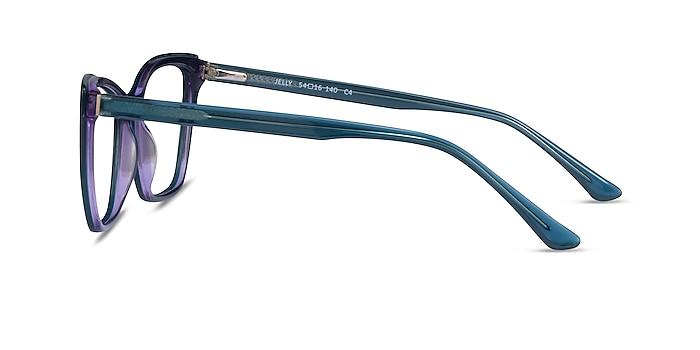 Jelly Teal Purple Acetate Eyeglass Frames from EyeBuyDirect