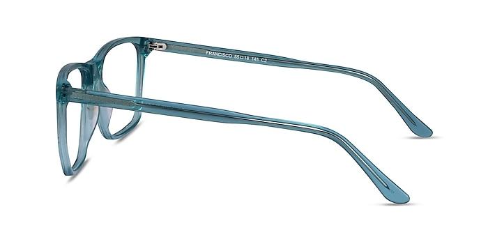 Francisco Clear Blue Acétate Montures de lunettes de vue d'EyeBuyDirect