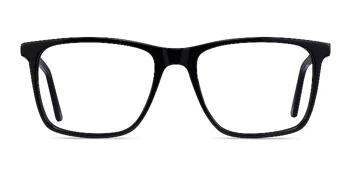 Francisco Black Acetate Eyeglass Frames from EyeBuyDirect