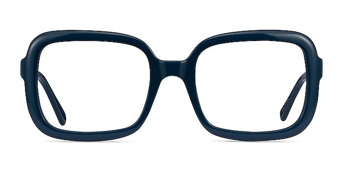 Provence Dark Blue Acétate Montures de lunettes de vue d'EyeBuyDirect