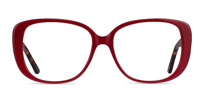 Mileva Burgundy Tortoise Acetate Eyeglass Frames from EyeBuyDirect
